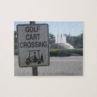Golf Cart Crossing Jigsaw Puzzle