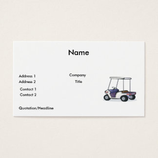 golf cart graphic business card