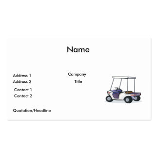 golf cart graphic pack of standard business cards