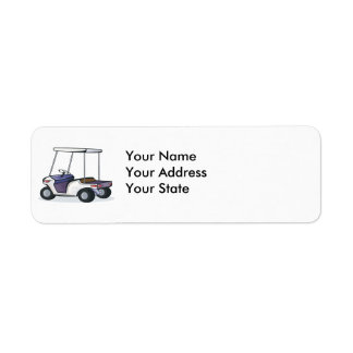 golf cart graphic return address label