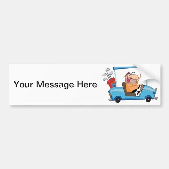 Golf Cart Guy Bumper Sticker