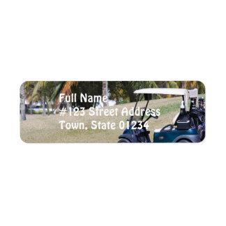 Golf Cart Mailing Label Return Address Label