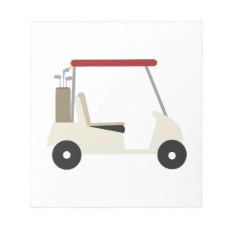 Golf Cart Notepad
