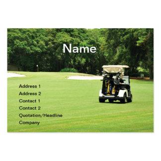 golf cart on a fairway business card template