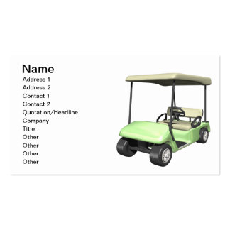 Golf Cart Pack Of Standard Business Cards