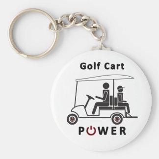Golf Cart Power Basic Round Button Key Ring