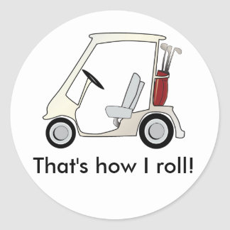 golf_cart round sticker