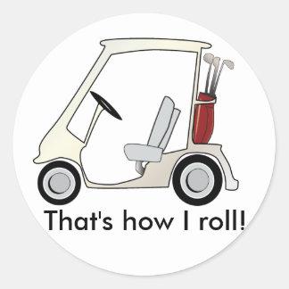 golf_cart round sticker