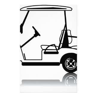 Golf Cart white Personalized Stationery