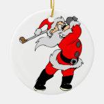 Golf Cartoon Christmas Santa Christmas Ornaments