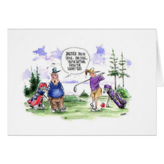 Golf cartoon greeting card: Ladies tee Card