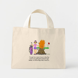 Golf Cartoon Tote Bag