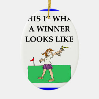 golf ceramic oval decoration