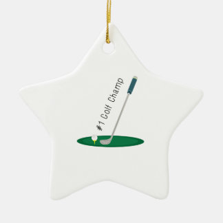 Golf Champ Christmas Tree Ornaments