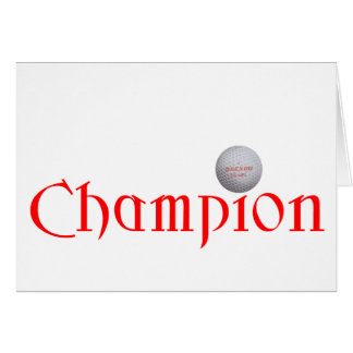 GOLF CHAMPION GIFT GREETING CARD
