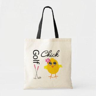 Golf Chick Budget Tote Bag