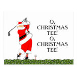 GOLF CHRISTMAS cards Postcard