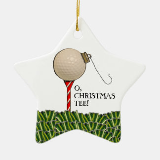 golf Christmas collectible Ceramic Star Decoration