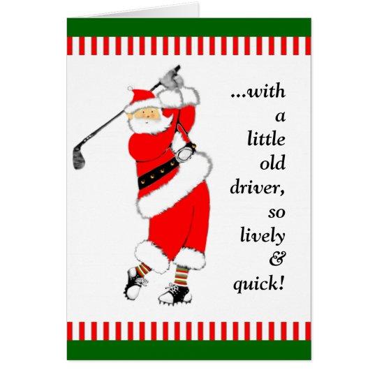 GOLF CHRISTMAS GIFT CARD