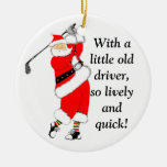 GOLF CHRISTMAS GIFT ROUND CERAMIC DECORATION