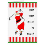 GOLF CHRISTMAS GREETING CARD