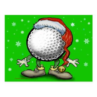 Golf Christmas Postcards