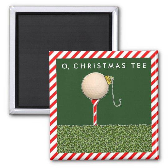 Golf Christmas Square Magnet