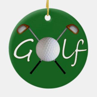 Golf Christmas Tree Ornament