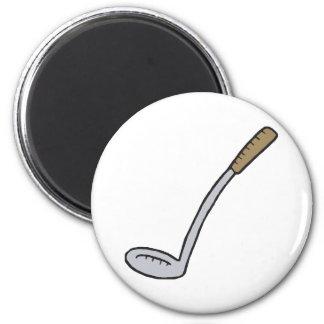 Golf Club 6 Cm Round Magnet