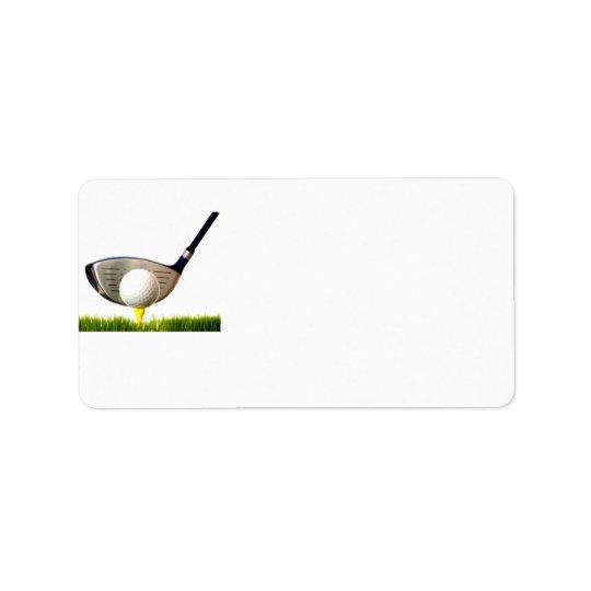 Golf Club Address Label