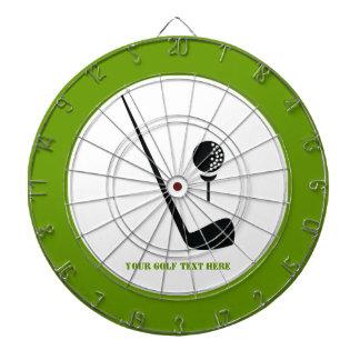 Golf club and ball black, green custom dartboard