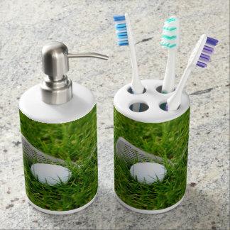 Golf Club and Golf Ball Bathroom Set