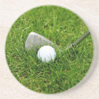 Golf Club and Golf Ball Coaster