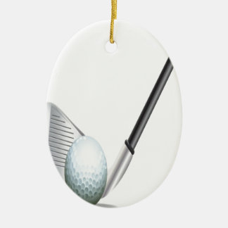 Golf club and golf ball design christmas ornament