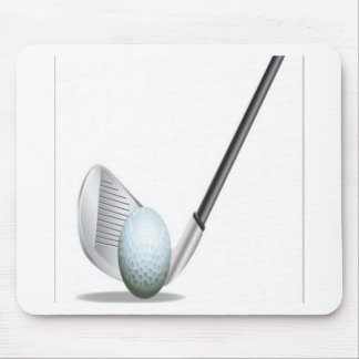 Golf club and golf ball design mouse mat