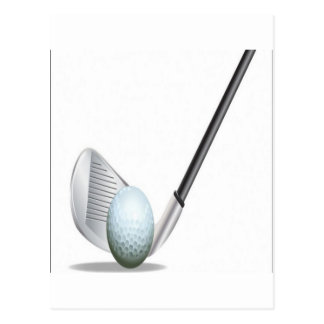 Golf club and golf ball design post cards