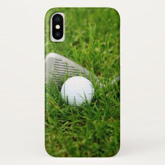 Golf Club and Golf Ball iPhone X Case