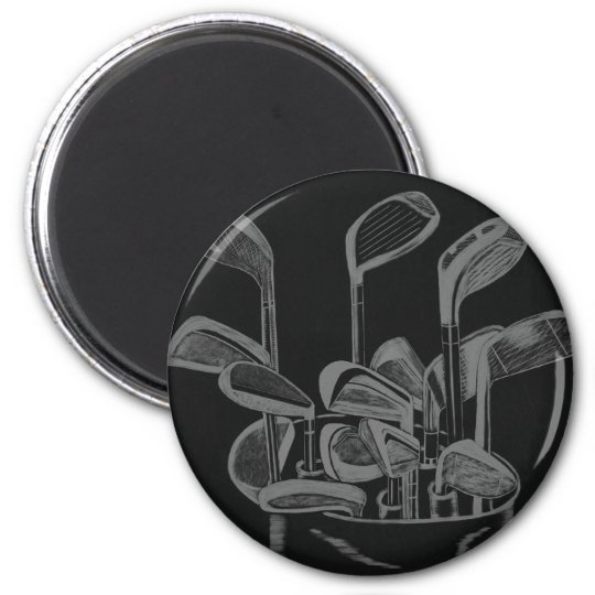 GOLF CLUB ART MAGNET