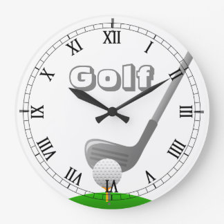 Golf Club, Ball & Tee - Custom Clock