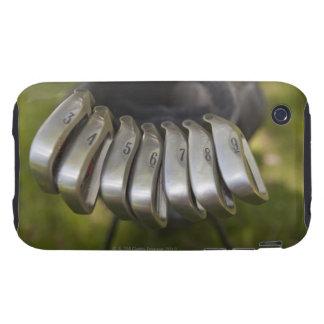 Golf club heads in a bag. Three through nine iPhone 3 Tough Cover
