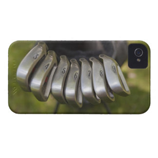 Golf club heads in a bag. Three through nine iPhone 4 Cases