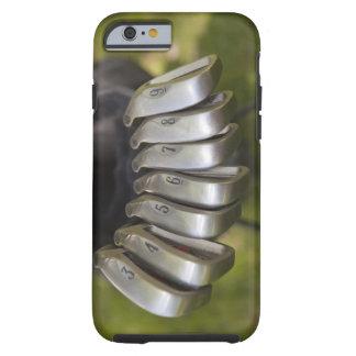 Golf club heads in a bag. Three through nine Tough iPhone 6 Case