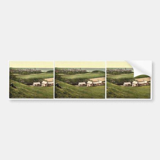 Golf club house, Cromer, England classic Photochro Bumper Stickers