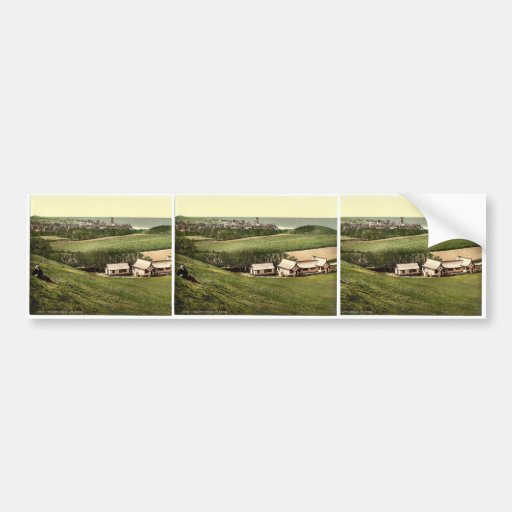 Golf club house, Cromer, England classic Photochro Bumper Sticker