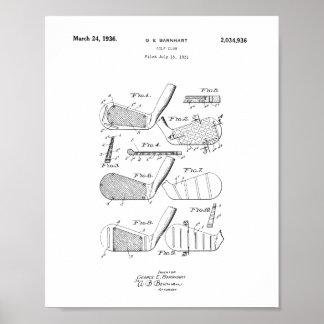 Golf Club Patent Poster, Vintage Golfer Print