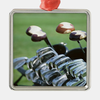 Golf Club Silver-Colored Square Decoration