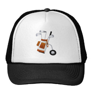 Golf Clubs and Bag Trucker Hat