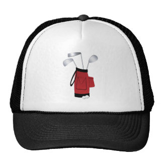 Golf Clubs and Bag Hat