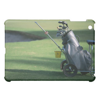 Golf clubs and golf bag case for the iPad mini