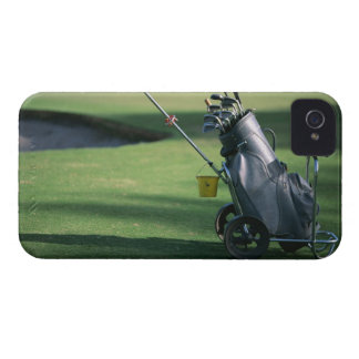 Golf clubs and golf bag iPhone 4 covers